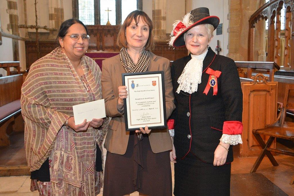 Raminder Gill and Joanna Martindale with High Sheriff of Sussex